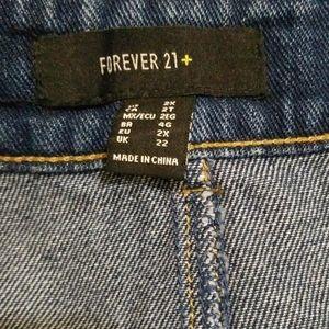 Forever 21 Skirts - NWT Forever 21 Dark Wash Denim Mini Skirt 2X